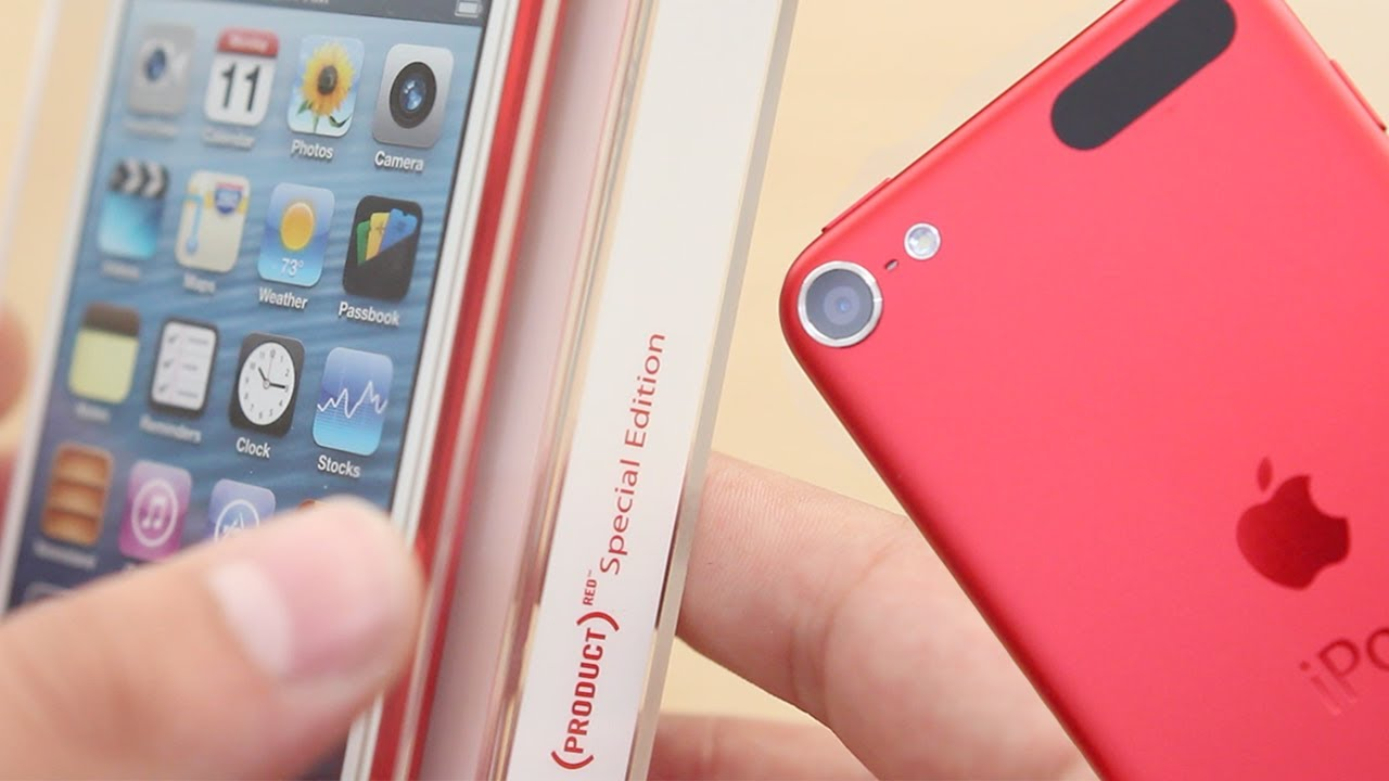 ipod touch 5th gen product red unboxing size comparison. Black Bedroom Furniture Sets. Home Design Ideas