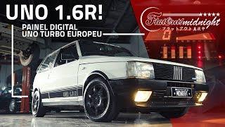 Uno 1.6R 1990 aspirado: frente alta, painel digital e detalhes em fibra de carbono! FlatOut Midnight