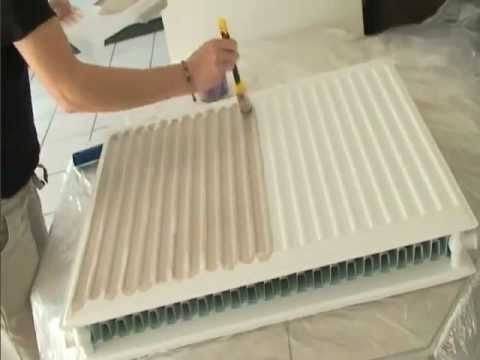 peindre un radiateur peintures julien youtube. Black Bedroom Furniture Sets. Home Design Ideas