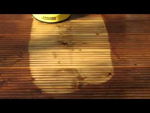 Using Karcher to clean decking and woodwork