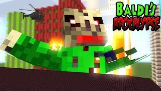 Monster School : BALDI'S APOCALYPSE CHALLENGE - Minecraft Animation