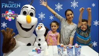 Funny Kids -  Disney Frozen Olaf At Our House- Kinder Chocolate Surprise Eggs - Olaf S - amy Calder