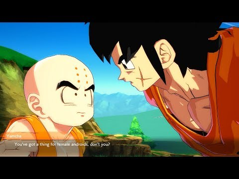 Dragon Ball FighterZ - Krillin Has Crush on Android 21 & Android 18 Gets MAD
