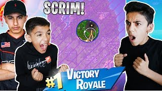 Last Circle Scrim Challenge With Brothers And Friends! (Intense)