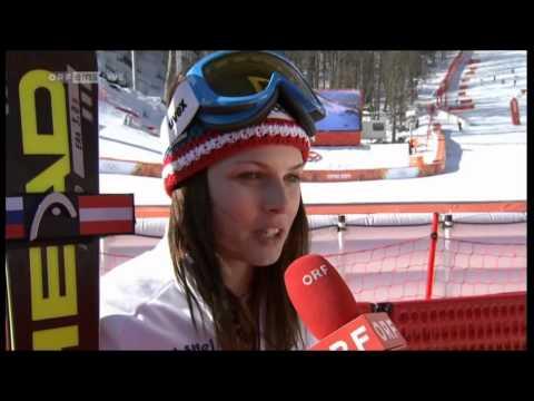 Anna Fenninger gewinnt die Goldmedaille beim Super G in Sochi - Olympiasiegerin - Interview