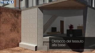 Installazione composito drenante TENAX DP1 per muri di controterra