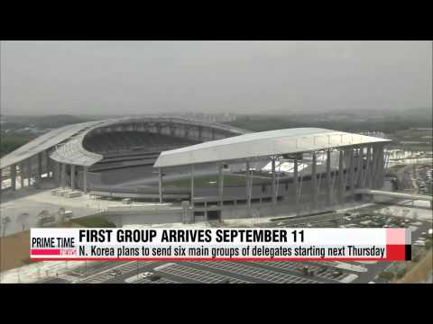 Asian Games delegates from North Korea to arrive from September 11   아시아게임: 북한,