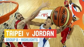 Taipei v Jordan - Highlights Group B - 2014 FIBA Asia Cup