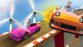 RIDICULOUS WINDMILL STUNT RACE! | GTA5 [Ep 30]