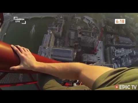 James Kingston climbs South Bank Tower