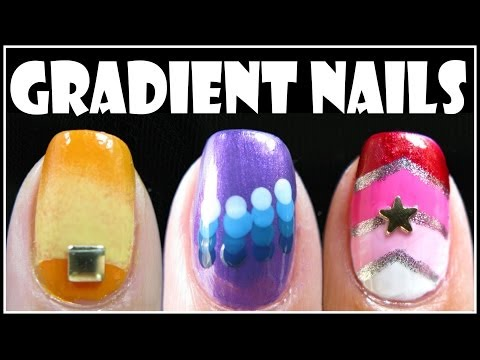 GRADIENT NAIL ART DESIGNS   FADING OMBRE NAILS TUTORIAL HOW TO EASY BEGINNER MELINEY