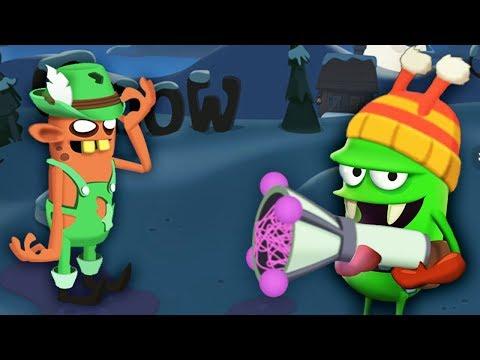 НОВОГОДНЯЯ ОХОТА НА ЗОМБИ Мультяшная игра  ЛОВЦЫ ЗОМБИ Zombie Catchers
