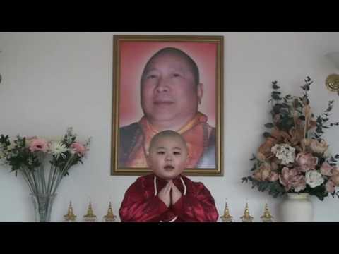 聖密宗四歲小活佛背頌論文《淺論佛教超越界限》