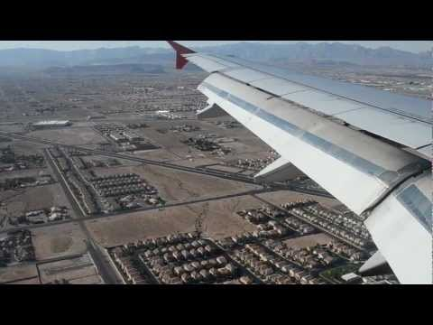 Spirit Airlines Airbus A319-100 Landing Into McCarran International Airport Las Vegas Nevada USA