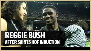 Reggie Bush Talks Saints Fans After Induction Into Saints Hall of Fame | New Orleans Saints Football