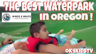 The best waterpark in Oregon? Evergreen Wings and Waves Waterpark  ok4kidstv video 171