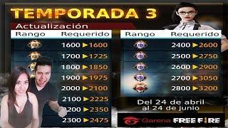 🔴TERCERA TEMPORADA DE FREE FIRE -  PREMIOS EXCLUSIVOS PARA LOS MEJORES JUGADORES!! 98.53 MB