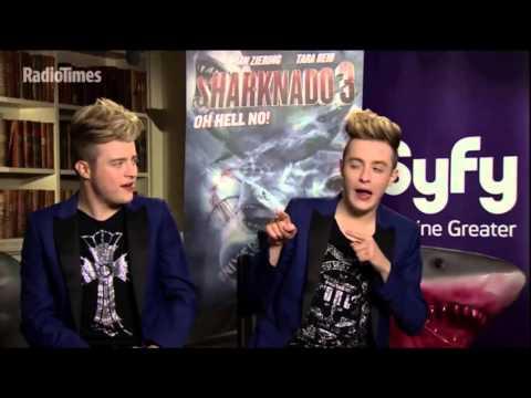 "Jedward | Radio Times | ""Sharknado 3"" Promo - Charades"