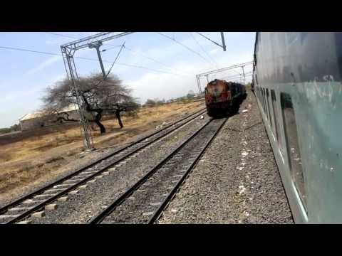 Banglore city New Delhi Passing Jammu tawi pune Jhelum Express with twin engines pulling