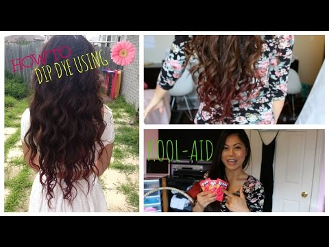 ♡ DIY: HOW TO DIP DYE YOUR HAIR WITH KOOL-AID ♡