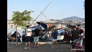 Ege Depremi Sonrası Hasar Gören Tekne ve Araçlar