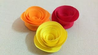 How to make small rose paper flower | DIY origami flowers for beginners  | Easy arts & crafts