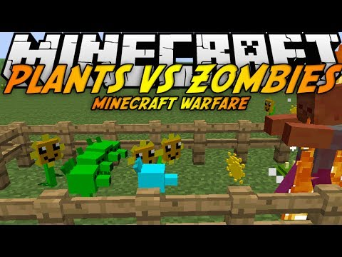 скачать plants vs zombies minecraft warfare mod