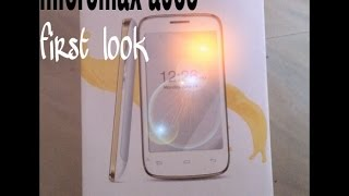 FIRST LOOK AT MICROMAX CANVAS BOLT A065