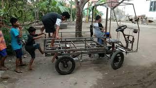 Uji coba cyclekart mobil mesin motor asli tegal part II