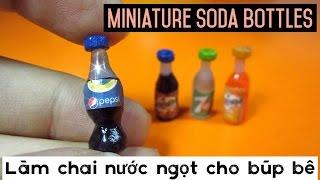 DIY Miniature Soda Bottles for Doll / Đồ chơi trẻ em làm chai nước ngọt cho búp bê / Ami DIY