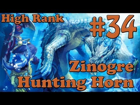 Let's Play MH3U Part 34 - Zinogre, High Rank [Hunting Horn]