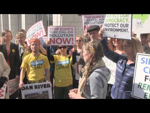 Coal Ash Demonstration at Duke Energy Headquarters