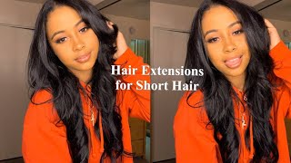 HOW TO   Wear Clip In Extensions with Short Hair   BELLAMI