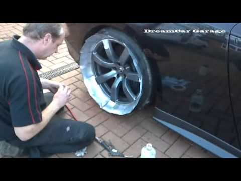 How to Paint alloy Wheels/Rims on a 720bhp Nissan GTR 'without' taking the wheels off?!!!