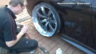 DCG1: How to Paint alloy Wheels/Rims on a 720bhp Nissan GTR 'without' taking the wheels off?!!!