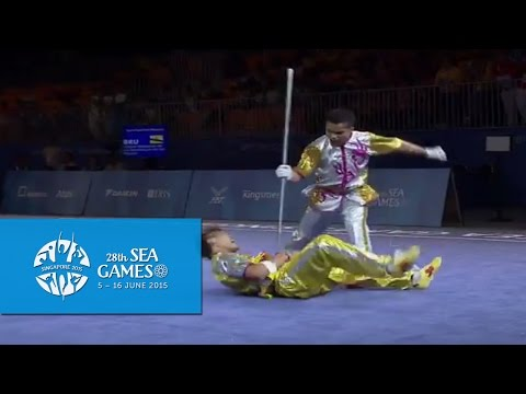 Wushu (Day 1) | 28th SEA Games Singapore 2015 - Men's Duel Event - Weapon