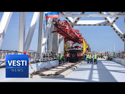 Next Stop, Crimea! First Ever Railway Bridge Finally Completed Connecting Peninsula to Mainland!