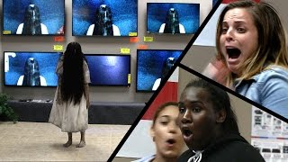 Scary prank at the TV store