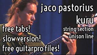 Lesson #23 // Jaco Pastorius - Kuru - groove & string section unison line