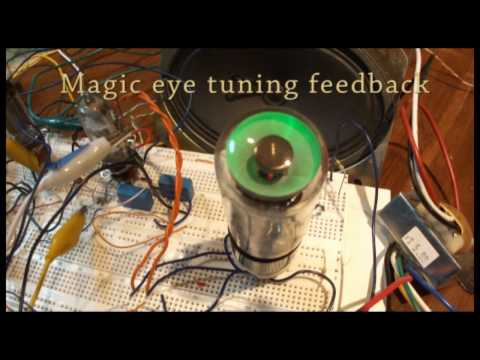 Homemade super heterodyne vacuum tube radio with AVR (atmega328p) frequency counter