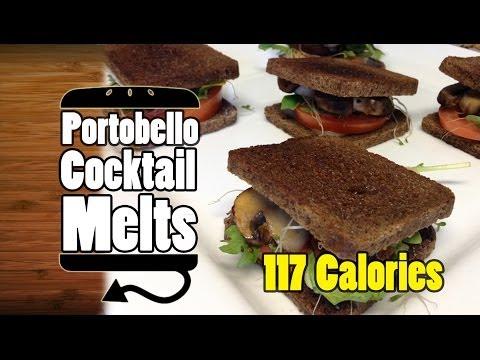 Portobello Arugula Alfalfa Sprout Cocktail Swiss Melts Recipe - HellthyJunkFood