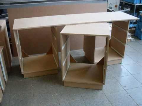 Meuble bois rangement a tiroir youtube - Fabrication d un bureau en bois ...