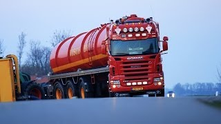 Transporting slurry with Fendt 930 and Scania R500 - Visch BV - mest transport