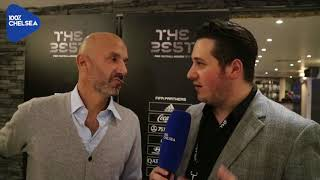 GIANLUCA VIALLI ON IF CONTE CAN WIN FIFA MANAGER OF THE YEAR || THE BEST AWARDS 2017