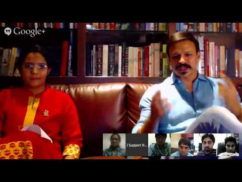 MaHa Connect Google+ Hangout with Shri. Vivek Oberoi