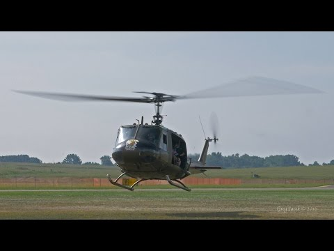 This is a short video of a Bell UH 1H Huey starting it's turboshaft engine at Willow Run Airport's Thunder Over Michigan. I mixed the audio into 5.1 Surround Sound for your listening enjoyment!...
