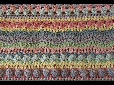 Fun striped crochet blanket tutorial - EASY crochet afghan / baby blanket / throw