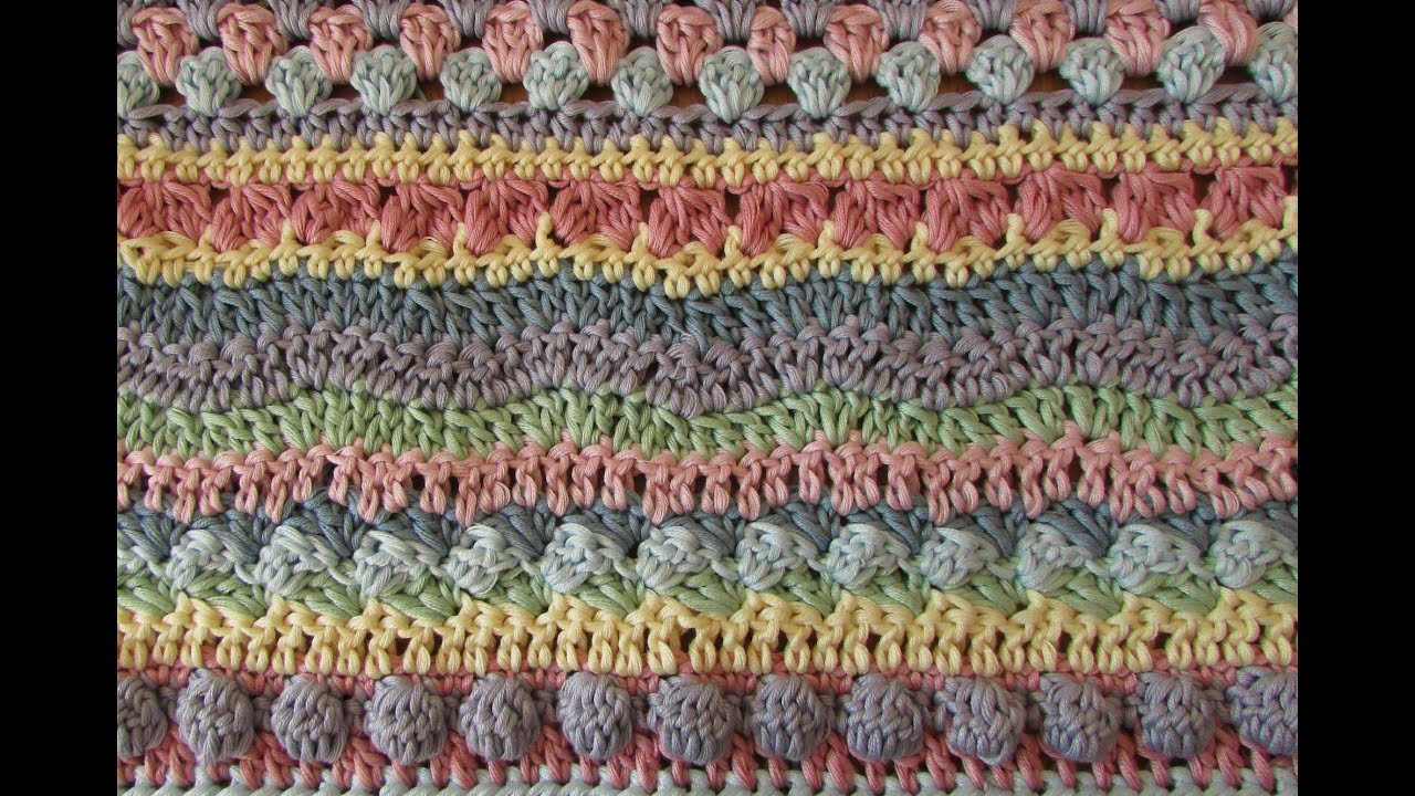 Fun striped crochet blanket tutorial - EASY crochet afghan ...