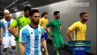 PES 2017   Brazil VS Argentina   6 Goals in a Match & Full Match   Gameplay PC