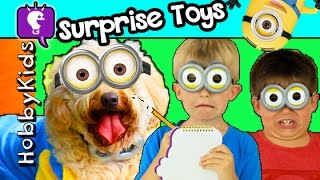 HobbyDog Searches for MINION Surprise Eggs with HobbyKids